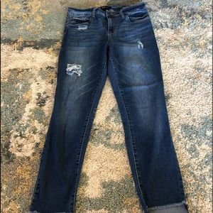 STS blue distressed skinny raw hem jeans